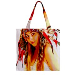 Indian 26 Zipper Grocery Tote Bag by indianwarrior