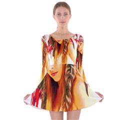 Indian 26 Long Sleeve Velvet Skater Dress by indianwarrior
