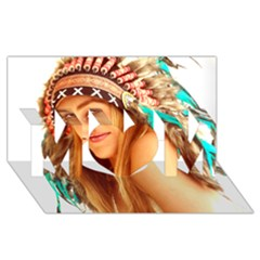 Indian 27 Mom 3d Greeting Card (8x4)  by indianwarrior