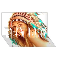 Indian 27 Best Bro 3d Greeting Card (8x4)  by indianwarrior