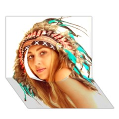 Indian 27 Circle 3d Greeting Card (7x5)  by indianwarrior