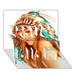 Indian 27 You Did It 3d Greeting Card (7x5) by indianwarrior