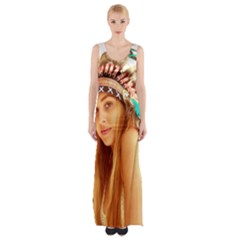 Indian 27 Maxi Thigh Split Dress by indianwarrior