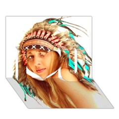 Indian 27 I Love You 3d Greeting Card (7x5)  by indianwarrior