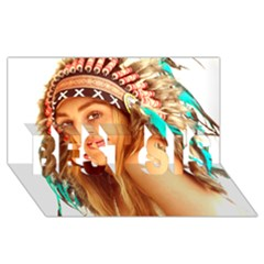 Indian 27 Best Sis 3d Greeting Card (8x4)  by indianwarrior