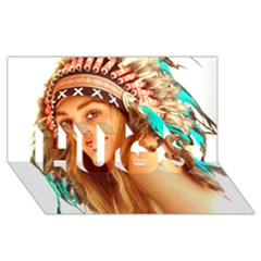 Indian 27 Hugs 3d Greeting Card (8x4)  by indianwarrior