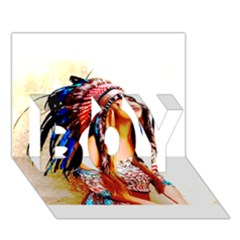 Indian 22 Boy 3d Greeting Card (7x5) by indianwarrior