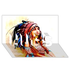 Indian 22 Hugs 3d Greeting Card (8x4)  by indianwarrior