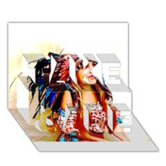 Indian 22 Take Care 3d Greeting Card (7x5)  by indianwarrior