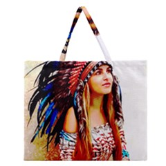Indian 22 Zipper Large Tote Bag by indianwarrior
