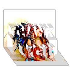Indian 22 Thank You 3d Greeting Card (7x5)  by indianwarrior