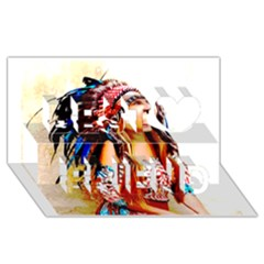 Indian 22 Best Friends 3d Greeting Card (8x4)  by indianwarrior