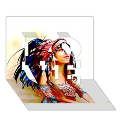 Indian 22 LOVE 3D Greeting Card (7x5)  by indianwarrior