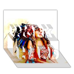 Indian 22 Work Hard 3d Greeting Card (7x5)  by indianwarrior