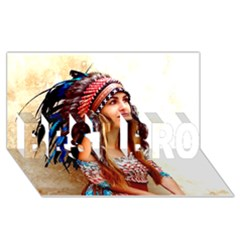 Indian 21 Best Bro 3d Greeting Card (8x4)  by indianwarrior