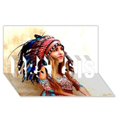 Indian 21 Best Sis 3d Greeting Card (8x4)  by indianwarrior