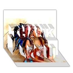 Indian 21 Thank You 3d Greeting Card (7x5)  by indianwarrior