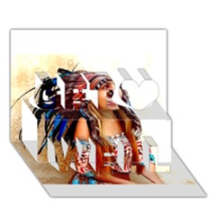 Indian 21 Get Well 3d Greeting Card (7x5)
