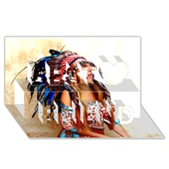 Indian 21 Best Friends 3d Greeting Card (8x4)  by indianwarrior