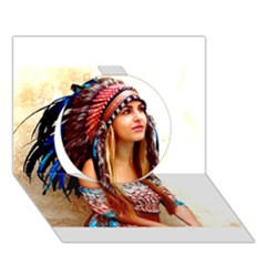 Indian 21 Circle 3d Greeting Card (7x5)  by indianwarrior
