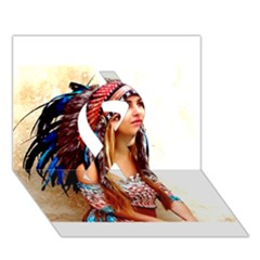 Indian 21 Ribbon 3d Greeting Card (7x5)  by indianwarrior
