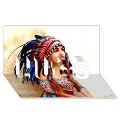 Indian 21 Hugs 3d Greeting Card (8x4)  by indianwarrior