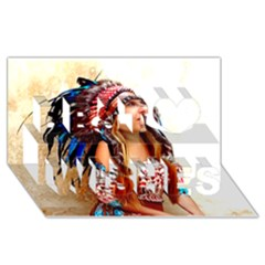 Indian 21 Best Wish 3d Greeting Card (8x4)  by indianwarrior
