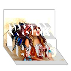 Indian 21 Work Hard 3d Greeting Card (7x5)  by indianwarrior
