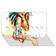 Indian 18 Best Sis 3d Greeting Card (8x4)  by indianwarrior