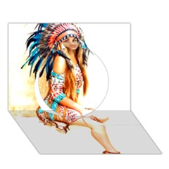 Indian 18 Circle 3d Greeting Card (7x5)  by indianwarrior