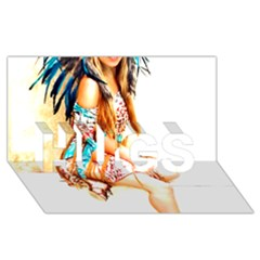 Indian 18 Hugs 3d Greeting Card (8x4)  by indianwarrior