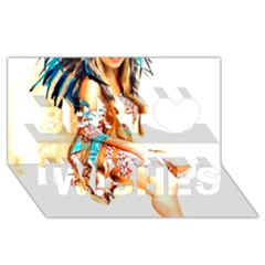 Indian 18 Best Wish 3d Greeting Card (8x4)  by indianwarrior