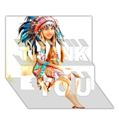 Indian 18 Thank You 3d Greeting Card (7x5)  by indianwarrior