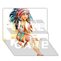 Indian 18 Take Care 3d Greeting Card (7x5)  by indianwarrior