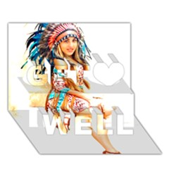 Indian 18 Get Well 3d Greeting Card (7x5)