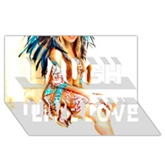 Indian 18 Laugh Live Love 3d Greeting Card (8x4)  by indianwarrior