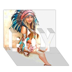 Indian 17 Boy 3d Greeting Card (7x5) by indianwarrior