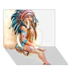 Indian 17 Apple 3d Greeting Card (7x5)  by indianwarrior