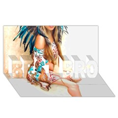 Indian 17 Best Bro 3d Greeting Card (8x4)  by indianwarrior