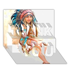 Indian 17 Thank You 3d Greeting Card (7x5)  by indianwarrior