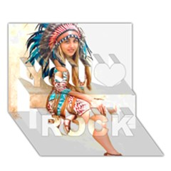 Indian 17 You Rock 3d Greeting Card (7x5)  by indianwarrior