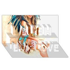 Indian 17 Laugh Live Love 3d Greeting Card (8x4)  by indianwarrior