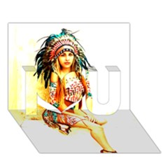Indian 16 I Love You 3d Greeting Card (7x5)  by indianwarrior