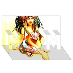 Indian 16 Mom 3d Greeting Card (8x4)