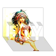 Indian 16 Boy 3d Greeting Card (7x5) by indianwarrior