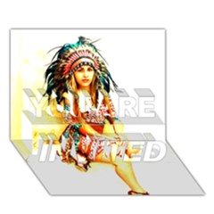 Indian 16 You Are Invited 3d Greeting Card (7x5)  by indianwarrior