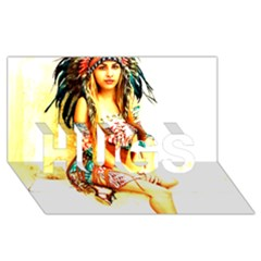 Indian 16 Hugs 3d Greeting Card (8x4)  by indianwarrior