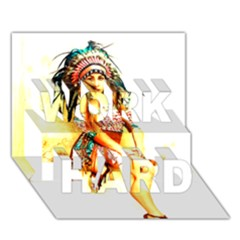 Indian 16 Work Hard 3d Greeting Card (7x5)  by indianwarrior