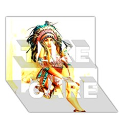 Indian 16 Take Care 3d Greeting Card (7x5)  by indianwarrior