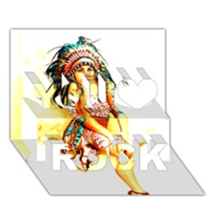 Indian 16 You Rock 3d Greeting Card (7x5)  by indianwarrior
